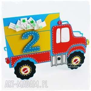 Urodzinowe Autko - kartka, auto, samochód, ciężarówka, urodziny, chłopiec,