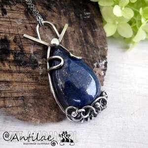 yoshi - lapis lazuli, srebro - naszyjnik, srebro, lapis, lazuli