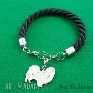 Bransoletka chin japoński pies nr.95, bransoletka, pies, rasy-psów, rękodzieło