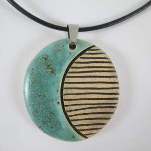 Etno naszyjnik turkusowy naszyjniki ceramika ana etniczny, wzór