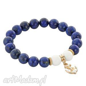 ręcznie wykonane bransoletki lapis lazuli with anchor