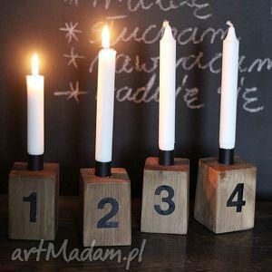 Świecznik świeczniki seehome świecznik, adwentowy, drewniany