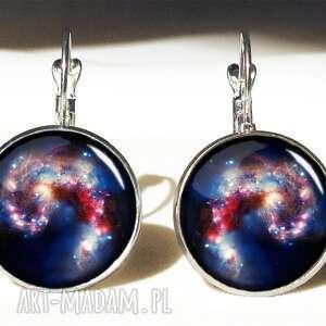 nebula - duże kolczyki wiszące egginegg, kosmos