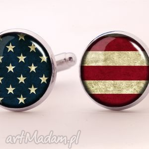 flaga usa - spinki do mankietów - spinki, mankietów, flaga, amerykańska, usa