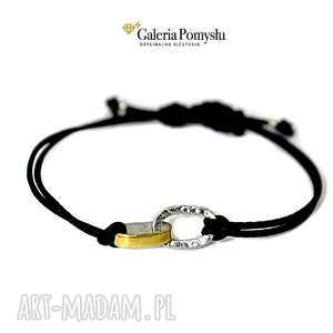 bransoletka srebrna - bransoletka, minimalizm, srebro, 925, złocone