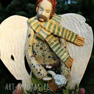 handmade dekoracje anioł piwko