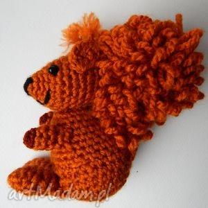 ręcznie wykonane maskotki wiewiórka - jasnopomarańczowa