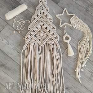 dekoracje choinka, makrama, święta bożego narodzenia, świąteczne