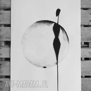 """Art Krystyna Siwek? obraz malowany tuszem """"About real"""