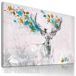 ludesign gallery obraz na płótnie - 120x80cm jeleŃ jesieniĄ 02269 wysyłka w 24h
