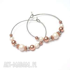 alloys collection /pearls copper/ vol. 2/02 -07 -19/-kolczyki