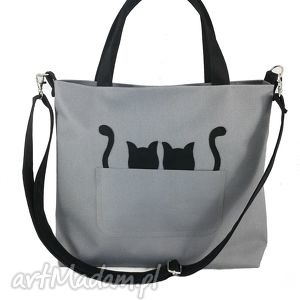 Black cats/kodura - ,torebka,kodura,pojemna,wygodna,