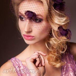 kwiecista woalka, fiolet, kwiaty, jedwab