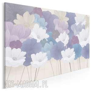 obraz na płótnie - kwiaty kobiecy pastelowy 120x80 cm 88601, kwiaty