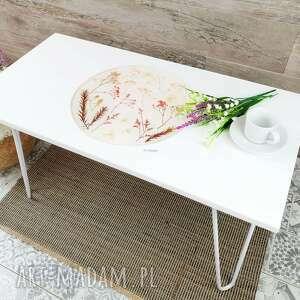 stoły stolik kawowy z naturalnymi kwiatami - mały zielnik, kawowy, kwiaty