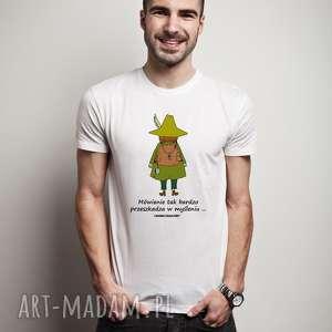 licencjonowana koszulka męska muminki mówienie tak bardzo przeszkadza w myśleniu