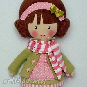 lalki malowana lala helenka z szalikiem, lalka, zabawka, przytulanka, prezent