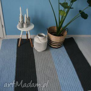 dywan 150cm x150 cm, dywan, blue, paski