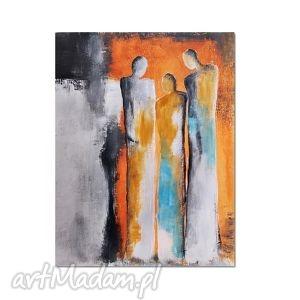 in good company, nowoczesny obraz ręcznie malowany