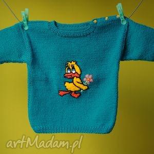 sweterek szmaragdowa kaczka, sweterek, włóczka, rękodzieło
