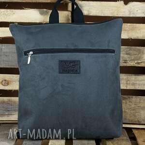 plecak xl waterproof szary, plecak, nubuk syntetyczny, produkt polski
