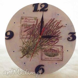 wyjątkowe prezenty, zegar lawenda, zegar, decoupage, prezent, kuchnia
