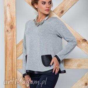 miekka bluzka z dekoracyjnymi kieszeniami, swetry, modny, ciepły, damski ubrania
