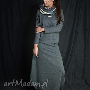 Gray set-komplet, dresowy, wygodny, szary, cieply, spodnica, bluzka