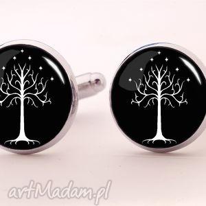 egginegg drzewo gondoru - spinki do mankietów - czarne, pierścieni
