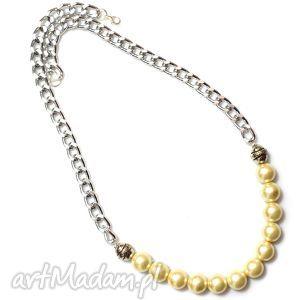 Naszyjnik kolia Lisa, naszyjnik, kolia, perły, perełki, łańcuszek, elegancki
