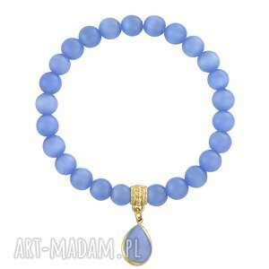 lavender - cat eye , kocie, zawieszka, niebieski, oko, błękitny bransoletki biżuteria
