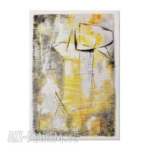 grot 2 /r710/, abstrakcja, nowoczesny obraz ręcznie malowany, obraz