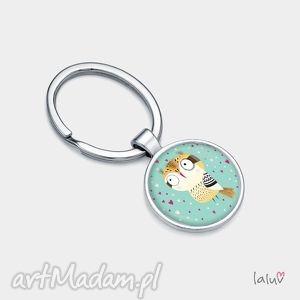 brelok do kluczy love owl, symbol, sowa, serce, miłość, grafika, mądrość breloki