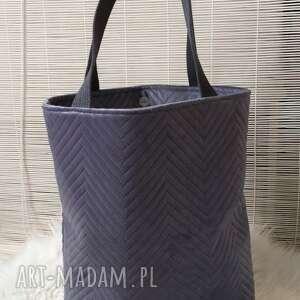 Torba shopperka szara na ramię fabryqaprzytulanek torba, torebka
