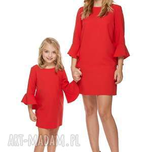 mama i córka sukienka dla córki ld3/2, sukienka, falbanka, elegancka, komplet
