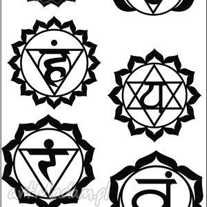 zestaw tatuaży czarne czakry no 5, chakry, tatoo