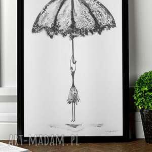 oryginalna grafika czarno-biała, wykonany ręcznie 30x40, abstrakcja kobieta