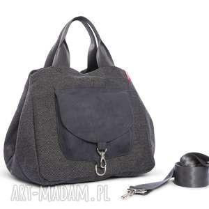 wyjątkowy prezent, torba big duo xl - grafit, wielofunkcyjna, stylowa, wygodna