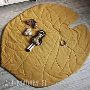 handmade pokoik dziecka mata do zabawy - liść lilii żółty
