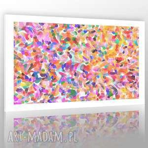 obraz na plótnie 100 x70 tło białe balony, abstrakcja, nowoczesny, skandynawski, koła
