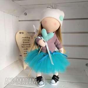 lalka szmacianka na prezent kolekcjonerska, anioł, szmacianka, kolekcjonerska