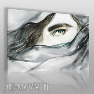 obrazy obraz na płótnie - kobieta chusta czarno-biały 120x80 cm 55502