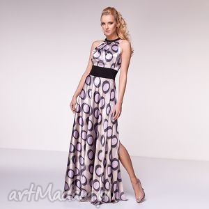 sukienka laura, moda, wesele, maxi, grochy, wiosna, lato sukienki ubrania