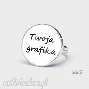 pierścionek z twoją grafiką, własna, grafika, indywidualne, projekt, prezent