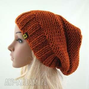 świąteczne prezenty, czapki ruda czapa, czapka, uniwersalna, zimowa, prezent