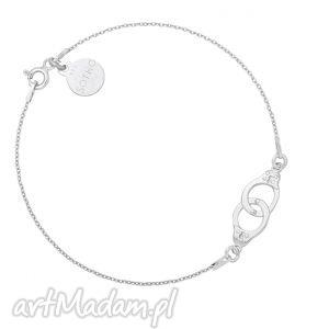 srebrna bransoletka z kajdankami, bransoletka, srebro, łańcuszek, kajdanki