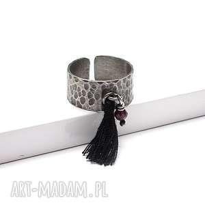 pierścionki snake /boho/ - pierścionek, srebro, oksydowane, chwost, boho