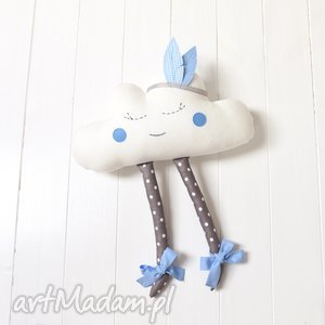 Chmurka z pióropuszem, chmurka, chmura, zabawka, pióropusz, maskotka, dekoracja