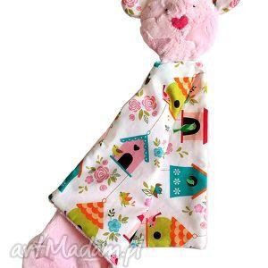 Przytulanka kocyk-miś maskotki papataj dziecko, miś, kocyk