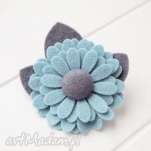 broszka przypinka kwiatek - broszka, filcowa, kwiatek, wiosenny, wiosna, new